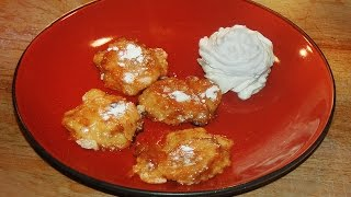 Banana Fritters - Flambéed with Rum 1960