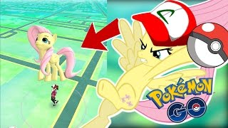 Fluttershy plays Pokemon Go: Gen 2 🍉 | CHASED BY A DOG! | Part 2