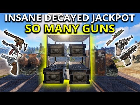 Insane Decayed Base Gun Hoarder Jackpot! - Rust Solo Survival Gameplay SE1 EP3