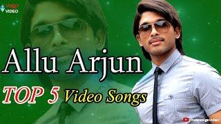Sarinodu - Allu Arjun - Top 5 Video Songs - Back 2 Back Telugu Video Songs - Jukebox