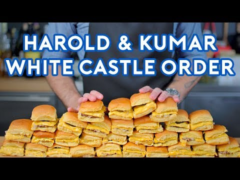 Binging with Babish White Castle Order from Harold & Kumar