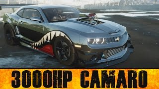 3000HP CAMARO  || Drag Spec Customization & Tests || The Crew: Wild Run BETA