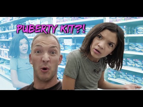 PUBERTY & PERIOD SHOPPING scavenger hunt with DAD!