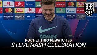 Mauricio Pochettino Watches Steve Nash Celebration After Tottenham Defeat Ajax