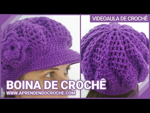 Boina de Croche Burguesinha Aprendendo Crochê