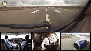 Azerbaijan Airlines B757 Takeoff Baku - Nakhchivan Runway view! [AirClips]