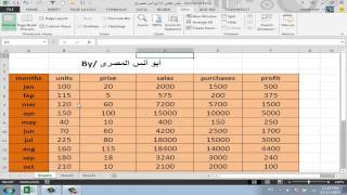 Fourth lesson (part 1) in Excel 2013