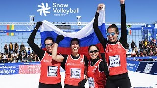 Snow Volleyball   Russia vs USA   Gold Medal Match Woman   World Tour
