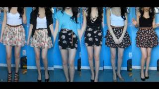 Style: Dressing Up & Down Floral Skirts