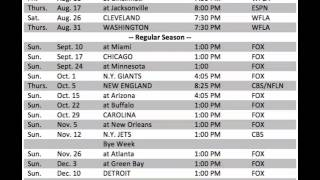 Overview of the Tampa Bay Buccaneers 2017-18 schedule!!!