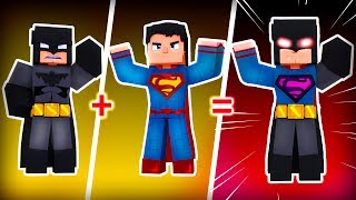 Minecraft Who's Your Family? SUPERMAN + BATMAN = SUPER BATMAN!!!