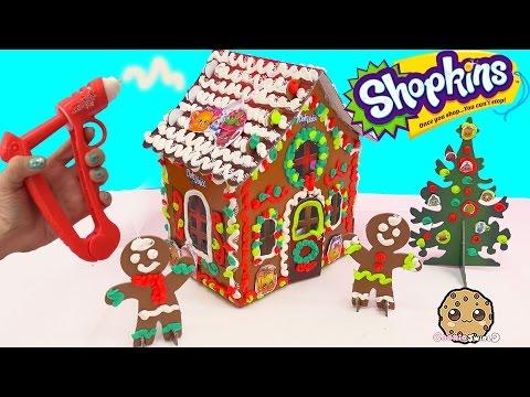 Playdoh DohVinci DIY Shopkins Season 4 Petkins Gingerbread Christmas Holiday Craft House Doh Vinci