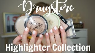 DRUGSTORE HIGHLIGHTER COLLECTION + Mini Reviews!