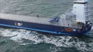 Extreme small plane landing on a ship at sea - part 1