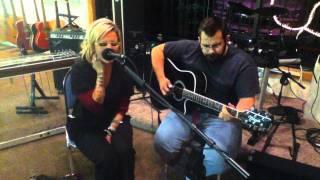 Crystal Finley singing at Guitars Etc jam night