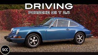 PORSCHE 911 T 2.4 Coupé 1973 - Full test drive in top gear - Engine sound | SCC TV