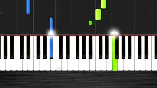 Wiz Khalifa - See You Again -EASY Piano Tutorial (50% Speed)- Synthesia