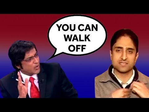 SHOCKING: Junaid Mattoo WALKS OFF From Arnab Goswami's Debate