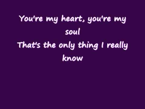 Modern Talking You re my heart you re my soul Lyrics on screen