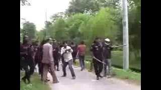 RAB and unidentified gunmen shooting a Shibir procession