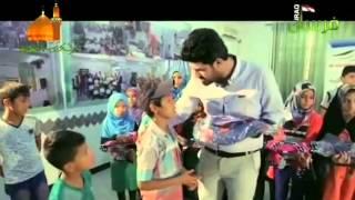 الرادود الحُسيني أحمد الساعدي أثناء توزيع الهدايا على الأيتام ...