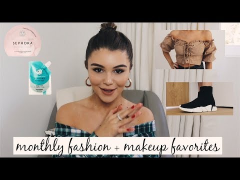 MONTHLY FASHION + MAKEUP FAVORITES (Try-On) l Olivia Jade