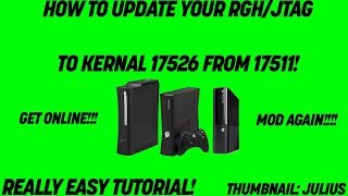 [JTAG/RGH] | TUT #4 | How to Update Your Kernal From 17511 to 17526 (Easy & Fast!) W/DOWNLOADS!