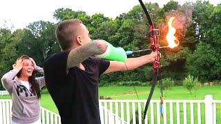 CRAZY FLAMING ARROWS!!