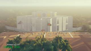 3D Animated National Parliament House  of Bangladesh by Green Icon