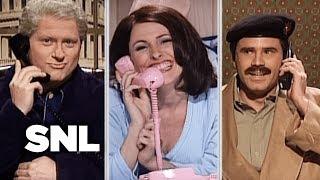 Bill, Saddam and Monica Have a Three-Way Call - SNL