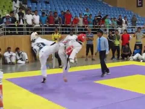 Best Match Raghu Boro[Goa] vs Haryana  At Common-Wealth Games Taekwondo Selection At Pune 2014-15