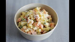 طرز تهیه سالاد روسی که هر چی بخوری سیر نمیشی | Original Russian Salad Recipe  - Eng Subs