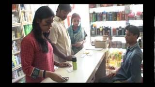 Woman Buying Condom