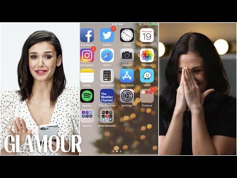 Nina Dobrev Hijacks a Stranger s Phone Glamour