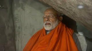 Day after campaign ends, PM Modi meditates in cave near Kedarnath shrine