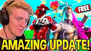 TFUE & STREAMERS REACT TO *NEW UPDATE!* FREE VALENTINE
