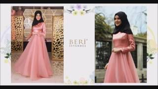 Tesettür Abiyeler 2017 BERİ tesettür abiye elbise modelleri