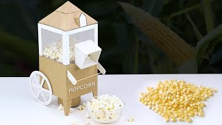 DIY Mini Popcorn Machine from Cardboard & PVC board