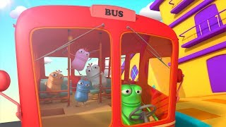Mad Beans | eat the red bus | wheels on the bus | nursery rhymes for kids