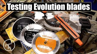 Testing Evolution blades on R255SMS sliding mitre saw - are they any good?