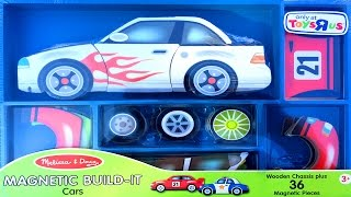 Cars Magnetic Build-It Melissa & Doug Preschool Toys Wooden & Magnetic Puzzle Playset Toy Videos