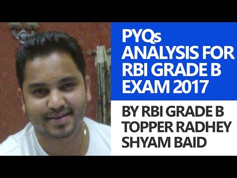 RBI Grade B Topper Interview Previous Year Paper Analysis for RBI Grade B Officers Exam