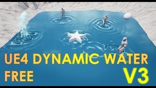 FREE Unreal Engine 4 Reactive Dynamic Water V3 Project Download [UE4.20]