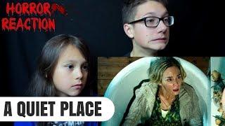 A QUIET PLACE Official Trailer Reaction!!!