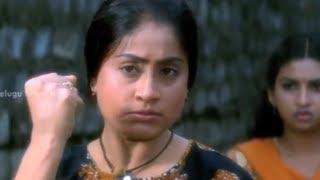 Vyjayanthi Movie Scenes - Vijayashanti saving her sister from thugs - Venu Madhav