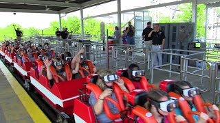 first riders on the new revolution at six flags st louis hd offride 60fps