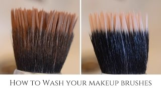 How to Wash your Makeup Brushes | OmogeMuRa