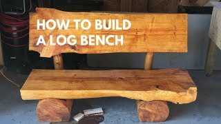 How to build a log bench without nails [indoor-outdoor]