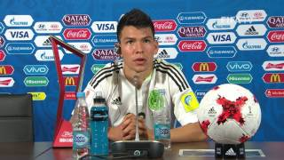 MEX v RUS - Hirving Lozano - Mexico Post-Match Press Conference