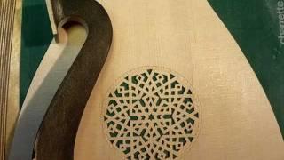 Building a Colascione lute by Yaron Naor